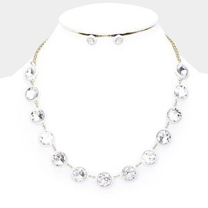 Jewelry - Ice cold Crystal Resin Trim Necklace